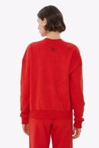 Picture of Red Crew Neck Basic Sweatshirt