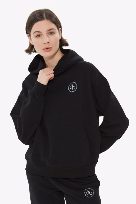 Picture of Black Hooded Basic Sweatshirt