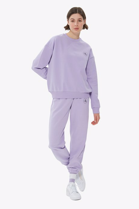 Picture of Lilac Crew Neck Basic Sweatshirt