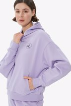 Picture of Lilac Hooded Basic Sweatshirt