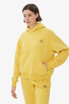 Picture of Yellow Hooded Basic Sweatshirt