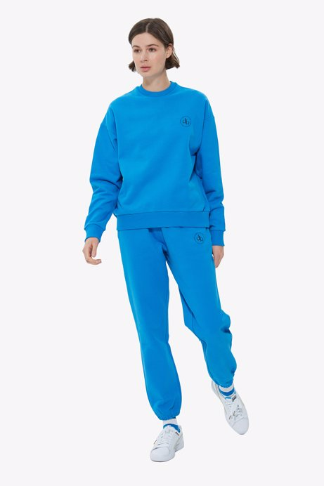 Picture of Blue Crew Neck Basic Sweatshirt