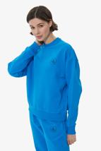 Picture of Blue Crew Neck Basic Sweatshirt
