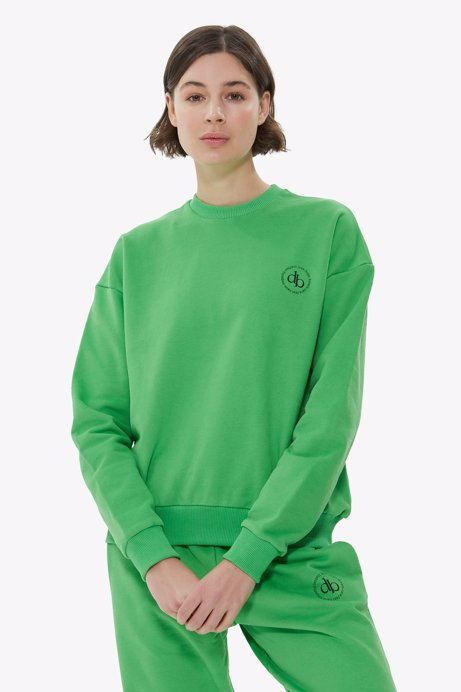 Picture of Green Crew Neck Basic Sweatshirt