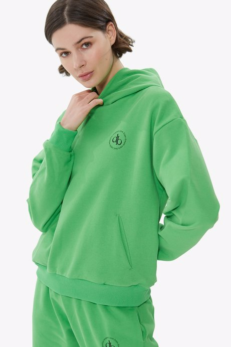 Picture of Green Hooded Basic Sweatshirt