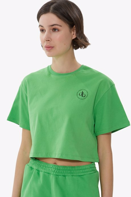 Picture of Green Crew Neck Crop T-shirt