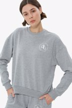 Picture of Grey Crew Neck Basic Sweatshirt