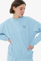 Picture of Baby Blue Crew Neck Basic Sweatshirt