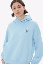 Picture of Baby Blue Hooded Basic Sweatshirt