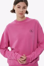 Picture of Pink Crew Neck Basic Sweatshirt