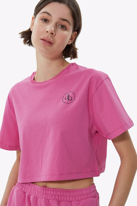 Picture of Pink Crew Neck Crop T-shirt