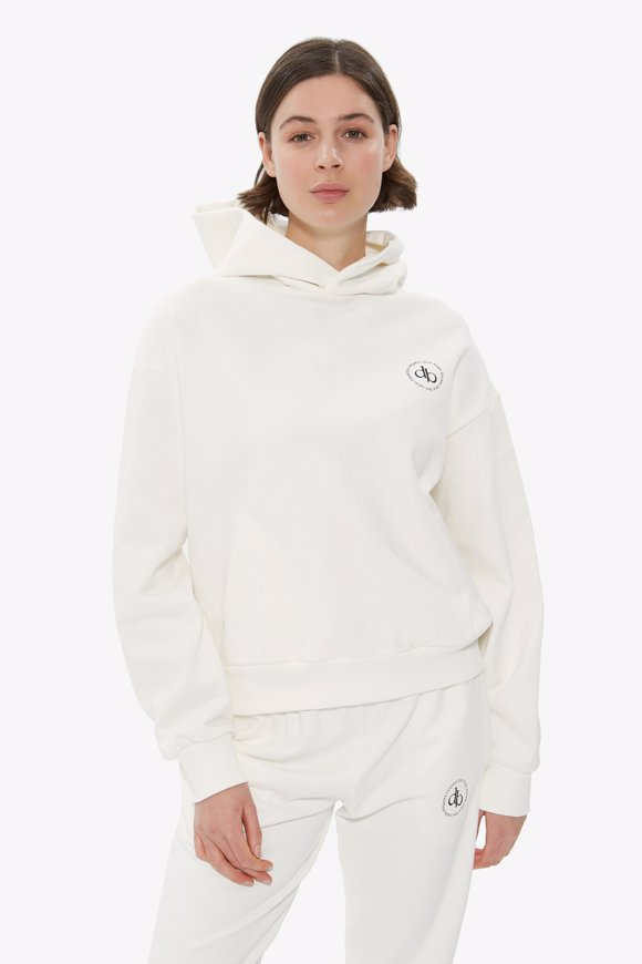 Picture of White Hooded Basic Sweatshirt
